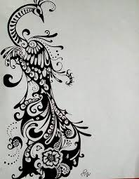 black and white peacock designs free download clip art free