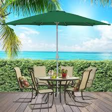 bcp 9 u0027 aluminum patio market umbrella tilt w crank outdoor