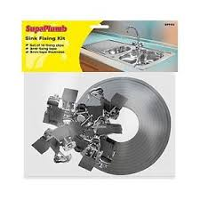 kitchen sink fixing clips 10 pack kitchen sink fixing clips 3m sealing tape worktop
