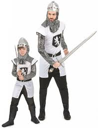 father and son knight couple costumes vegaoo