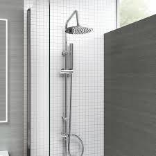 Shower Sets For Bathroom Ibathuk Modern Chrome Riser Rail Mixer Shower Kit For
