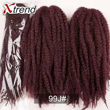 color 99j in marley hair xtrend hot 18 afro kinky marley braiding hair beauty multi color