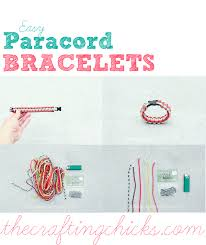 simple paracord bracelet instructions images Easy paracord bracelet aka safety bracelets the crafting chicks gif