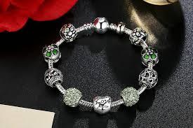 love charm bracelet images Love charm bracelet with flowerd crystal ball for women jpg