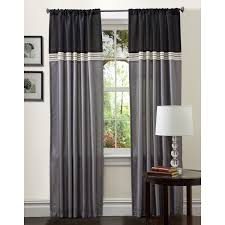 Silver And Blue Curtains Amazon Com Lush Decor Terra Curtain Panel Pair 54 Inch By 84