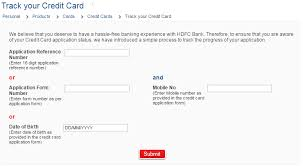 Hdfc Credit Card Payment Bill Desk Hdfc Bank Credit Card Status Online Track Your Application Status