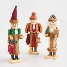 woodland santa nutcrackers set of 3 world market