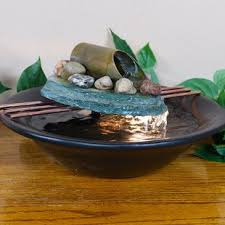 table top water fall tabletop waterfall fountains you ll love wayfair