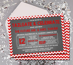 Pottery Barn Fayetteville Ar Tailgate And Celebrate Wedding Shower Invitation Couples