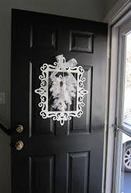 Front Door Metal Decor Winter Door Decor