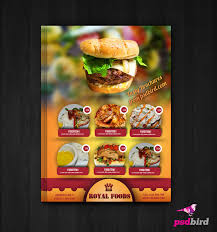 free hotel menu card flyer psd