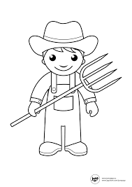 farmer printable coloring pages pinterest farmers community