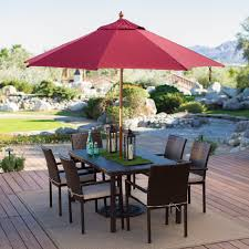Sunbrella Market Umbrella Replacement Canopy by Belham Living 9 Ft Wood Commercial Grade Sunbrella Market