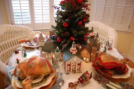 Villeroy And Boch Christmas Table Decoration by Christmas Setting With Dept 56 Churches