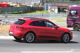 Porsche Macan Red - macan turbo s test mule porsche macan forum