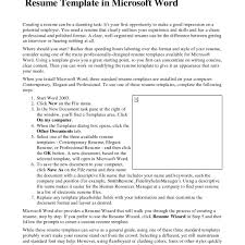 Resume Templates For Word 2003 Resume Template Word 2007 Gallery Templates Design Ideas