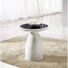 black and white side table giomani designs aura black glass and white hi gloss side table this