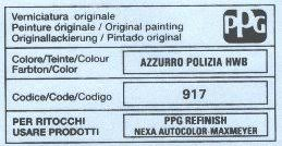 finding car paint colour codes for an alfa romeo