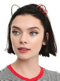 hello headband hello metal cat ear bow headband hot topic
