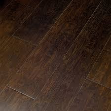 Locking Bamboo Flooring Shop Natural Floors By Usfloors Exotic 5 25 In Jacobean Bamboo