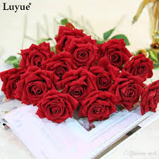 artificial roses 2017 beautiful artificial flowers flocking display