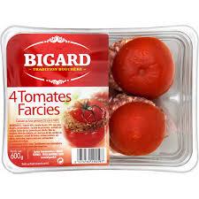 tomates cuisin s plats cuisinés tomates farcies bigard bigard la barquette de 4