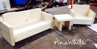 White Sofa Chair by Ana White American Or 18