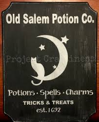 halloween a bewitching painted wood sign project craftiness