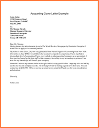 Accounting Cover Letter Templates 7 Examples Of Cover Letters For Accounting Positions Bussines