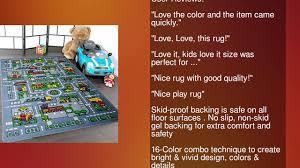 Kids City Rug by Kids Rug City Map Area Rug 8 U0027 X 11 U0027 Non Slip Gel Backing Size