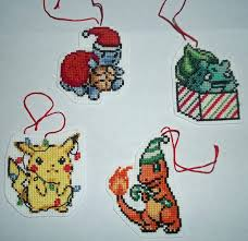 pokemon christmas ornament cross stitch by isobel theroux on