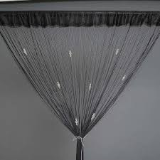 Crystal Beaded Curtains Australia by New Door Room Divider Crystal Beaded Fringe String Curtain Drape
