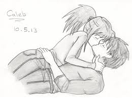 people kissing by azuk42 on deviantart