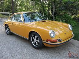 porsche 911 s 1969 for sale porsche 911s sunroof coupe bahama yellow 2 2 liter garage find
