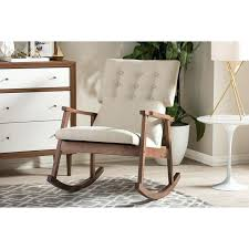 Upholstered Rocking Chair Nursery Glider And Ottoman Chatel Co