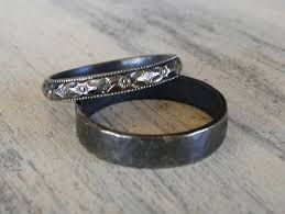 his and hers wedding sterling silver rings his and hers wedding rings black