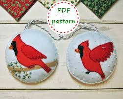 felt cardinal bird felt cardinal bird pattern