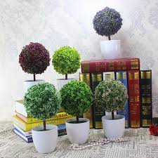 aliexpress com buy mini fake bonsai flower buxus plants in pot