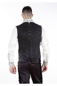 maquillage gothique homme gilet homme gothique steampunk victorien brocard pentagrammeshop