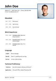 Elegant Resume Templates Resume Example Resume Template Info