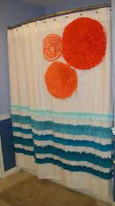 Designer Shower Curtain by Shower Curtain Custom Made Designer Fabric Ruffles And Flowers