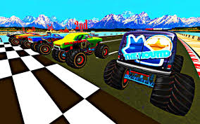 monster trucks races cartoon cars offroad monster truck racing highway driving 3d android apps