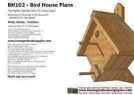home garden plans home garden plans bh102 bird house plans