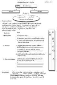 graphic organizer for comparative essay senior english