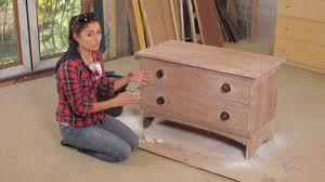 How To Build A End Table With Drawer by How To Sanding U0026 Painting Furniture With Layla Youtube