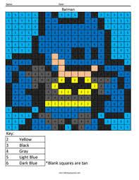 batman color number coloring squared