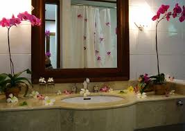 bathroom decorative ideas beautiful bathroom decorating ideas with decorated flowers in