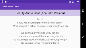 U Got It Bad Lyrics Justin Bieber Lyrics All Songs Android Apps On Google Play
