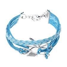 hand woven bracelet images Arrow dragonfly handmade leather braid fashion bracelet hand woven jpg