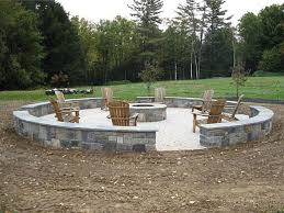 Large Firepits Fireplaces And Pits South County Rockery Brilliant Large Pit